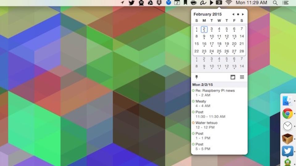 Macのメニューバーにカレンダーを表示するアプリ『Itsycal for Mac』