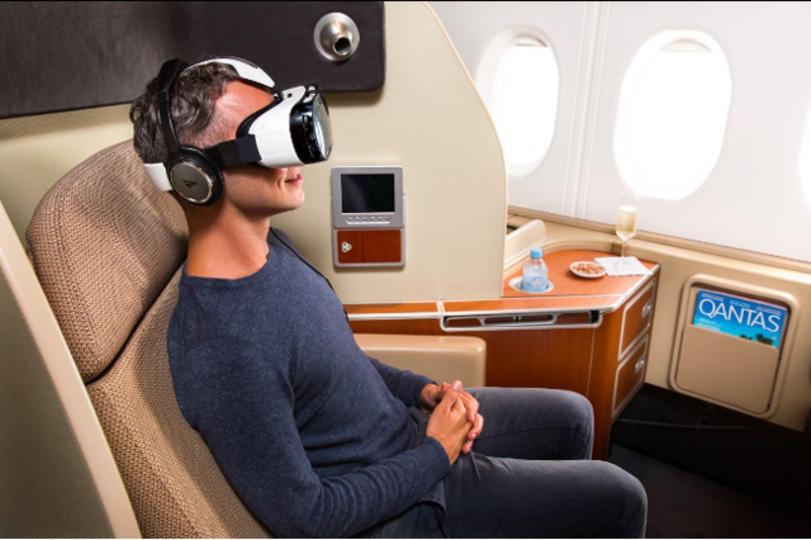 ファーストクラスは天空の映画館、カンタス航空で体感できる3Dヴァーチャル・リアリティ