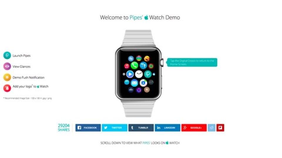 Apple Watchをブラウザ上で体験できるサイト