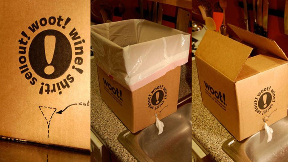 ゴミ袋 + 段ボール箱で作る簡易貯水タンク