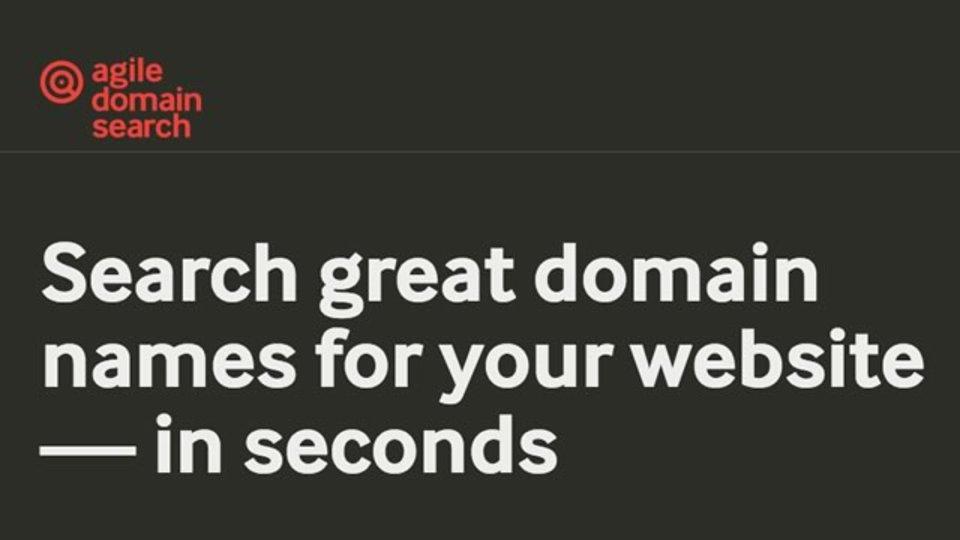 指定したキーワードを含む空きドメインを探してくれるサイト「Agile Domain Search」