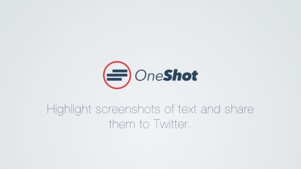 スクリーンショット内の文字をハイライトして共有できるアプリ『OneShot』