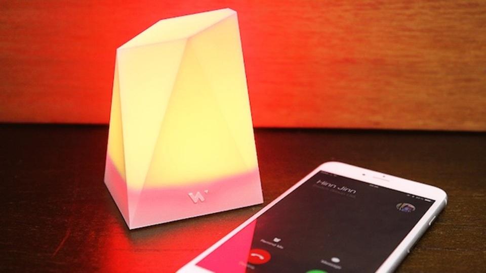 iPhoneの通知を、灯りで伝える美しく賢いライト「Notti」