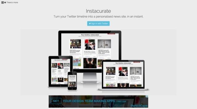 Twitterでフォローしている人が共有したリンクだけをまとめて閲覧できるサイト「Instacurate」