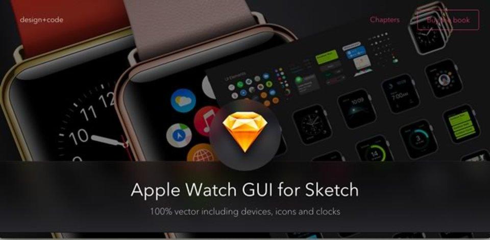 Apple WatchのUIパーツをベクター形式で配布しているサイト