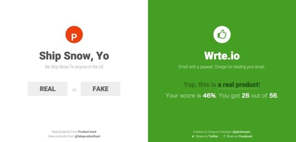 提示されたWebサービスが存在するかどうかを当てるゲーム「Real or Fake?」
