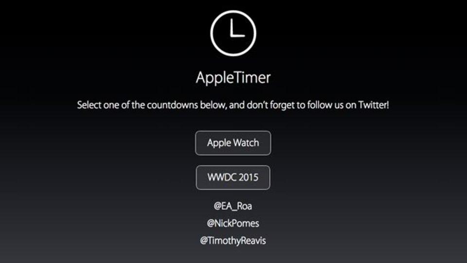 Apple製品の発売までカウントダウンしてくれるサイト「AppleTimer」