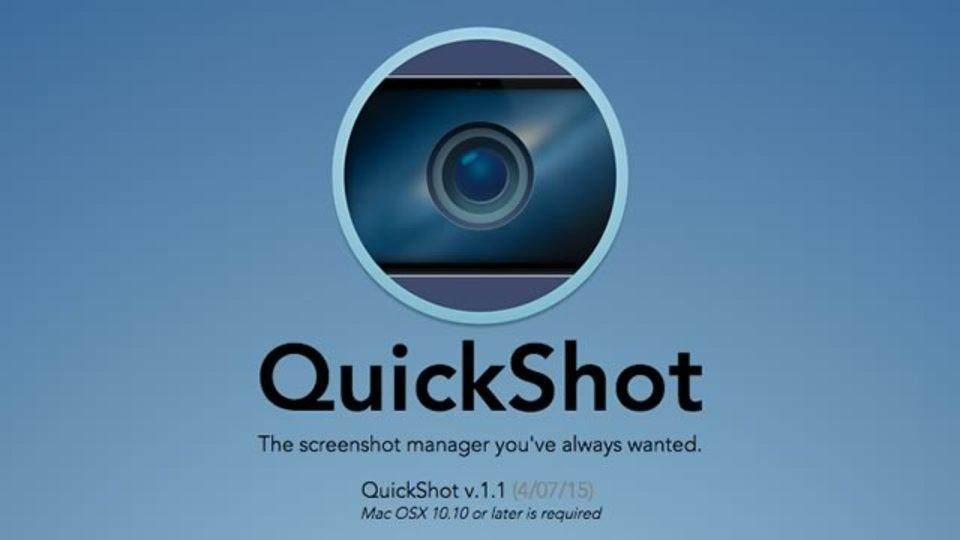 Macで撮ったスクリーンショットをメニューバーで確認できるツール「QuickShot」