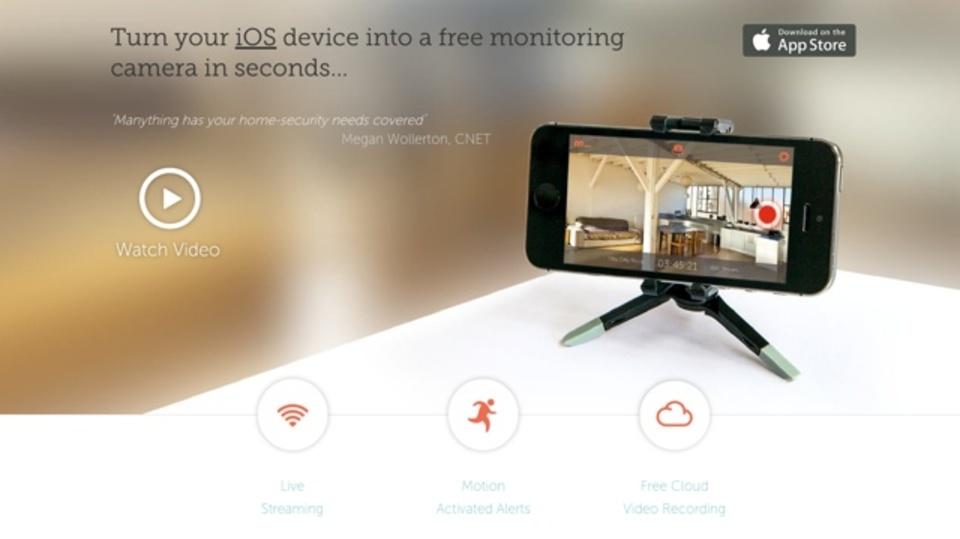 使い古したiPhoneを高機能の防犯カメラに変える『Manything』