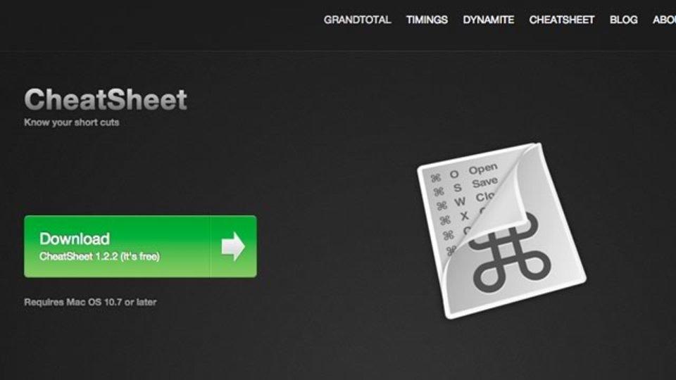 コマンドキー長押しで今使っているツールのショートカットが表示できる「CheatSheet」