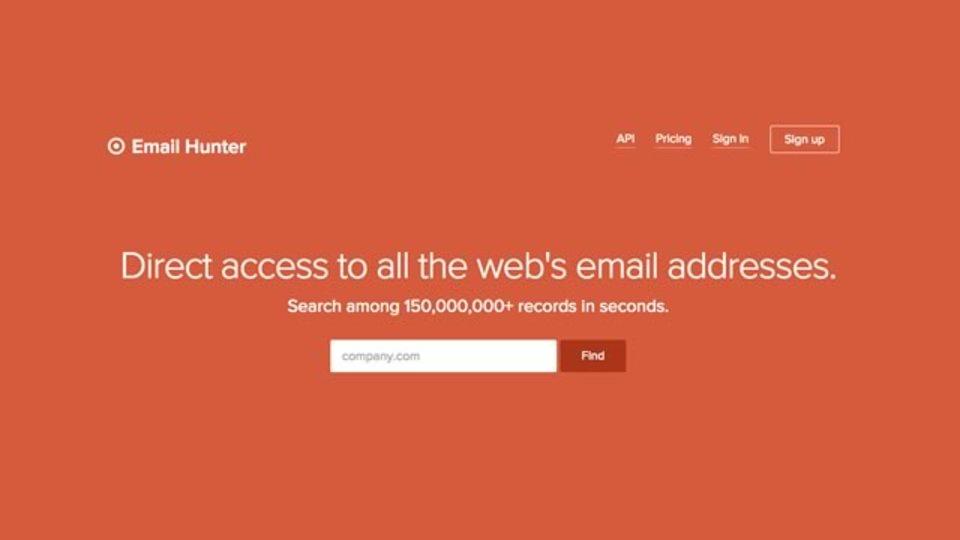 指定した企業の社員のメールアドレスを検索してくれるサイト「Email Hunter」