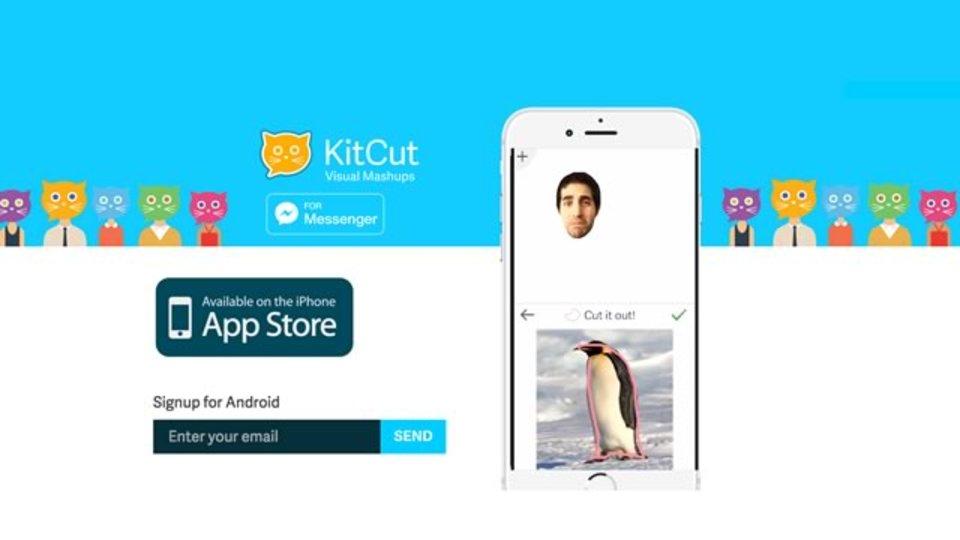 自撮り写真を使ってコラージュが作れるアプリ『KitCut』