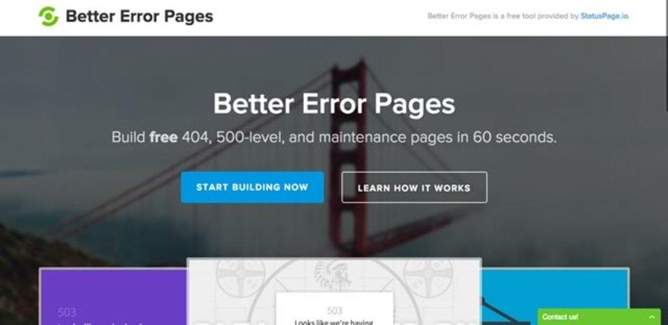 たった1分で素敵なエラーページが作れるサイト「Better Error Pages」