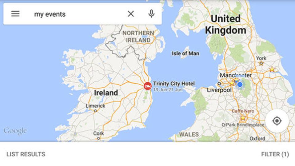Googleマップに新機能。旅行の予定がマップ上に表示される?