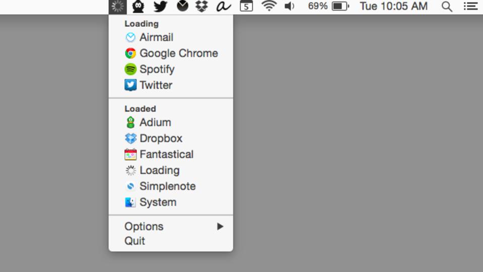 メニューバーからネット接続中のアプリをリストで確認できるMac用アプリ『Loading』