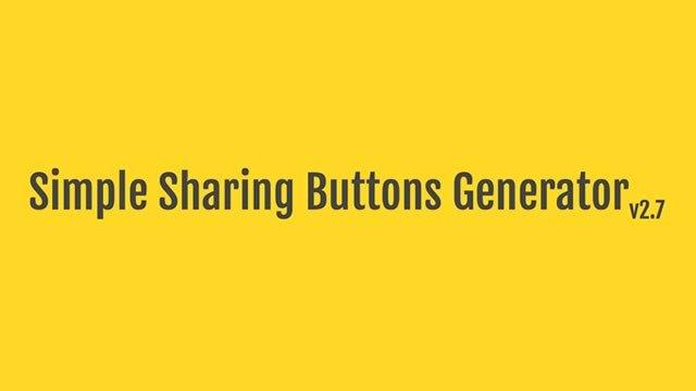 5つのステップでブログに使える共有ボタンを作ってくれるサービス「Simple Sharing Buttons Generator」