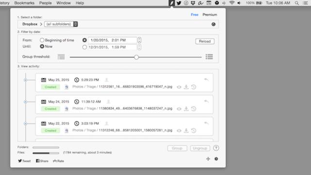 『Revisions』でMacのDropboxの履歴がひと目でわかる