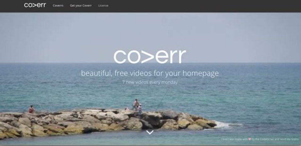 ウェブサイトの背景動画として使える短編動画を無料配布しているサイト「Coverr」