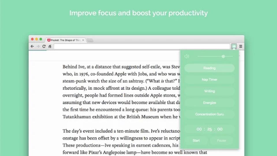 生産性の維持には、Chrome用『Noisli』で環境音を作成してみましょう