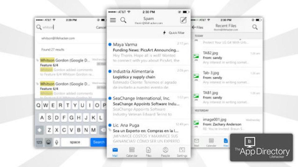 最高のiPhone用メールアプリは『Microsoft Ou…