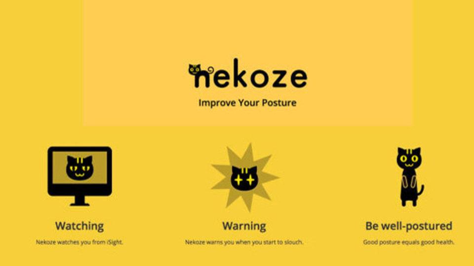 Mac版『Nekoze』を使うとかわいい猫が姿勢を矯正してくれます