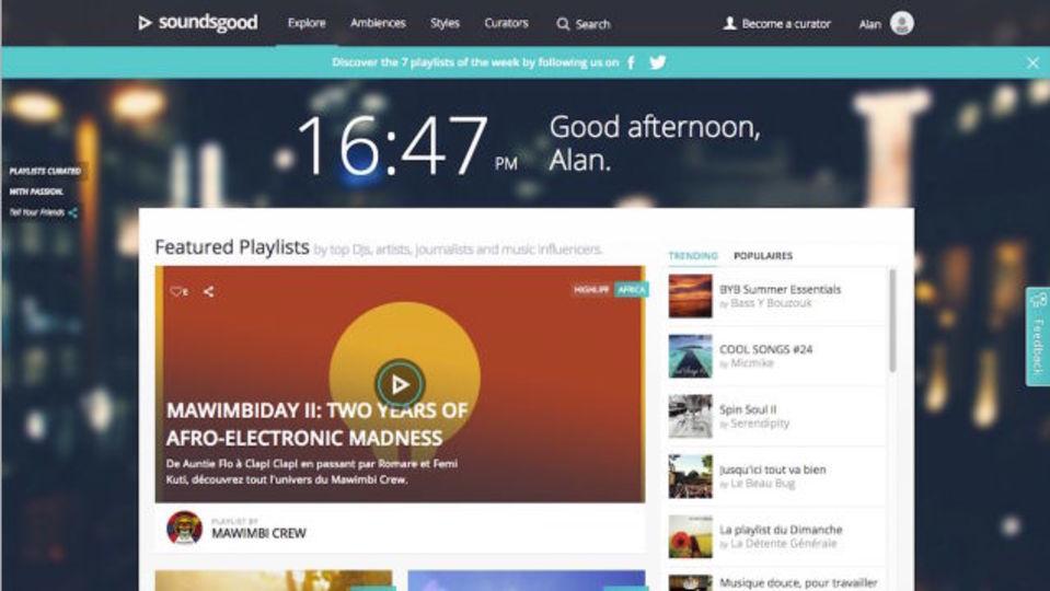 人間がキュレーションする新しい音楽サービス『Soundsgood』
