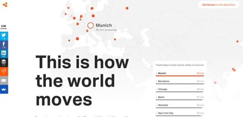 世界各国の人の行動を解析したサービス「Human Cities」