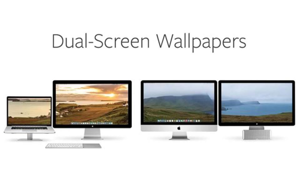 Macのデュアルディスプレイに対応した壁紙が手に入るサイト「Dual-Screen Wallpapers」