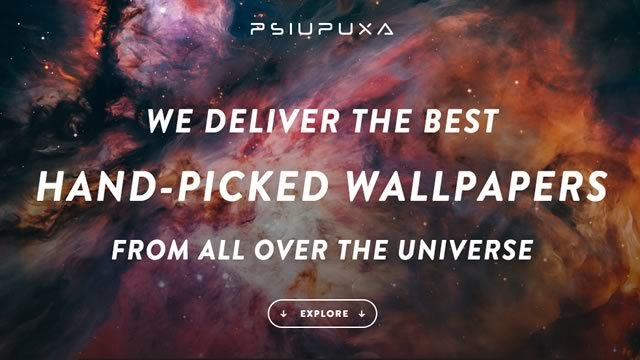 宇宙系の壁紙をPC・タブレット・スマホそれぞれ配信しているサイト「Pslu Puxa Wallpapers」