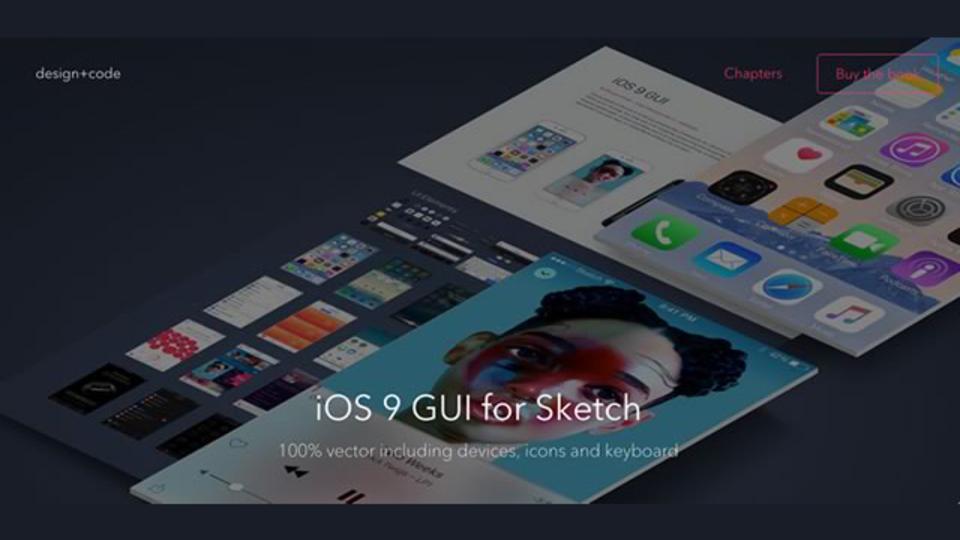 iOS9のUIデザイン集がダウンロードできるサイト「iOS 9 GUI for Sketch」