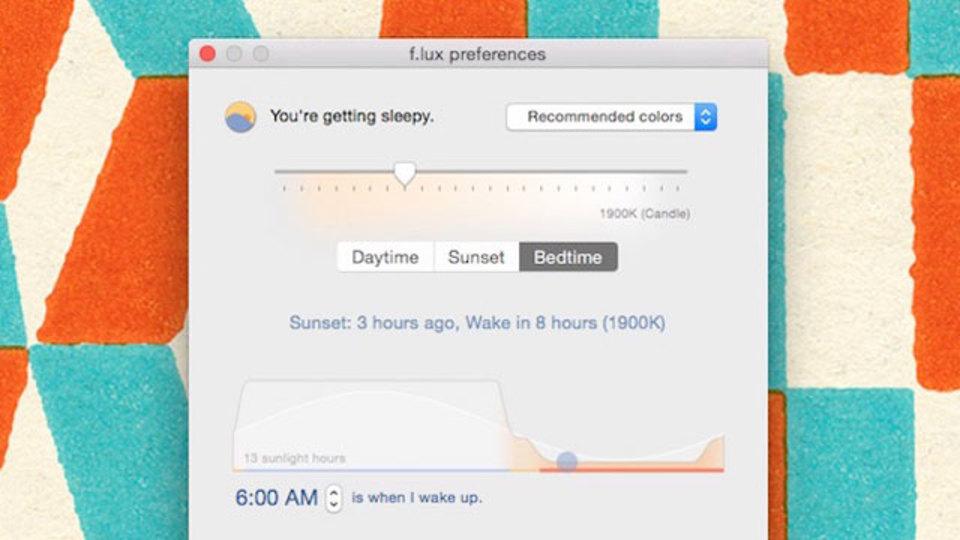 『F.lux』のMacバージョンに新搭載の「アラーム逆算機能」で睡眠時間がわかる