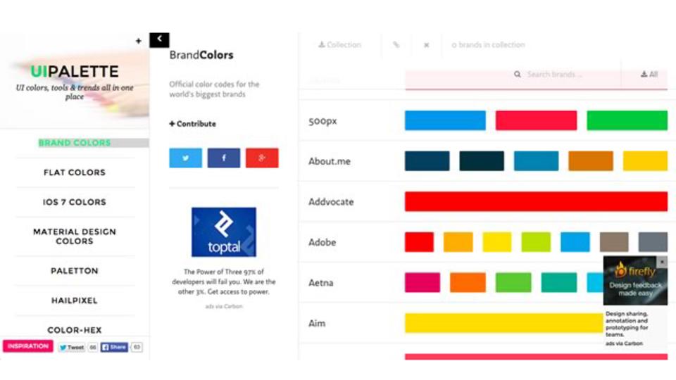 配色を考えるときに便利なサービスをまとめたサイト「UIPALETTE」