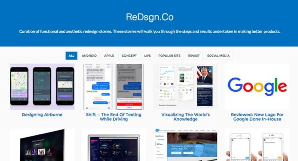 リデザインされた機能やUIについてのレビューを集めたサイト「ReDsgn.Co」