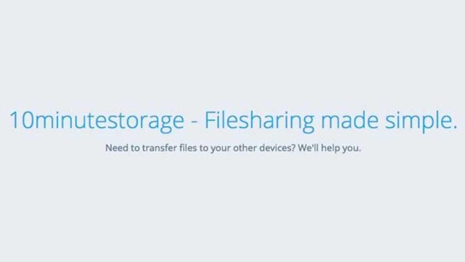 たった10分間だけファイル共有ができるサイト「10minutestorage」