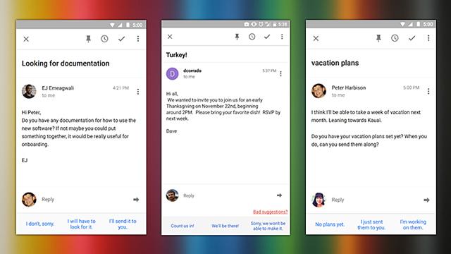 メールアプリ『Inbox』に返信を予想して書いてくれるSmart Replyが追加