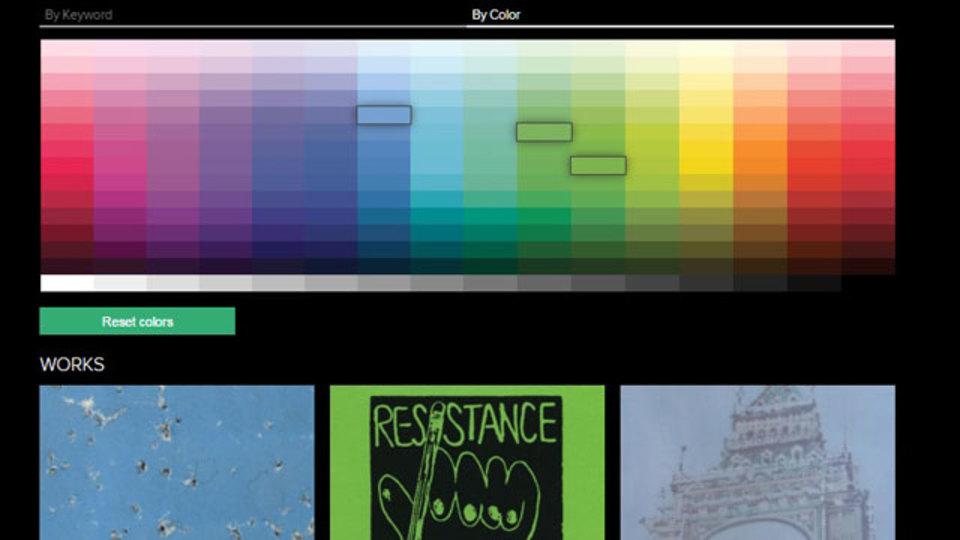 ColorSearchでインテリアにマッチするアートワークを探してみよう