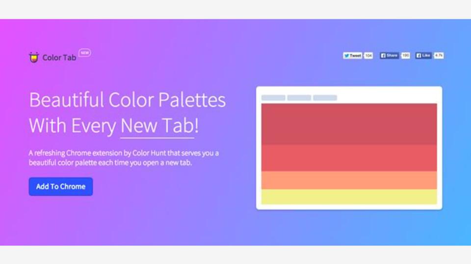 Google Chromeの新しいタブを開くたびにセンスのある配色を提案してくれる拡張機能「Color Tab」