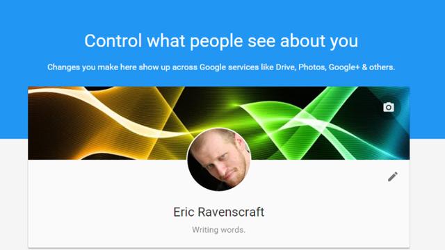 Googleのプロフィールは個別に設定しなくてOK。「ユーザー情報」ページで個人情報を一元管理しよう