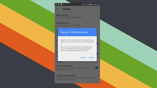Android版『Googleフォト』でバックアップした写真や動画を一括削除できるように