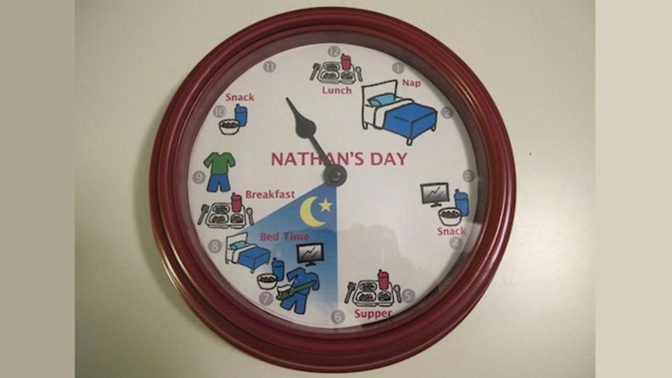 子供の1日のスケジュールを管理できる便利なカスタム時計