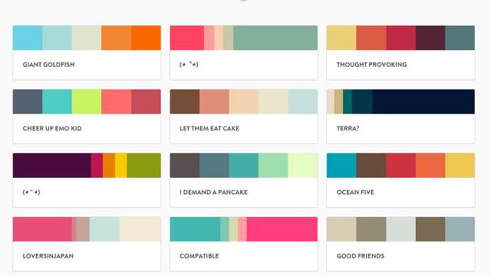 人気のある配色パターンが探せるサービス「PLTTS」