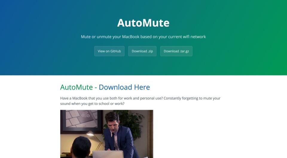 指定したネットワークに接続した際、自動的にミュートにしてくれるMacアプリ「AutoMute」