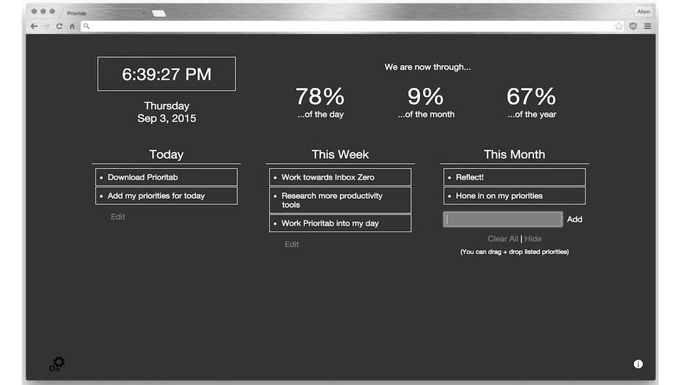 Chromeの新規タブでToDoがひと目で確認できる拡張機能「Prioritab」