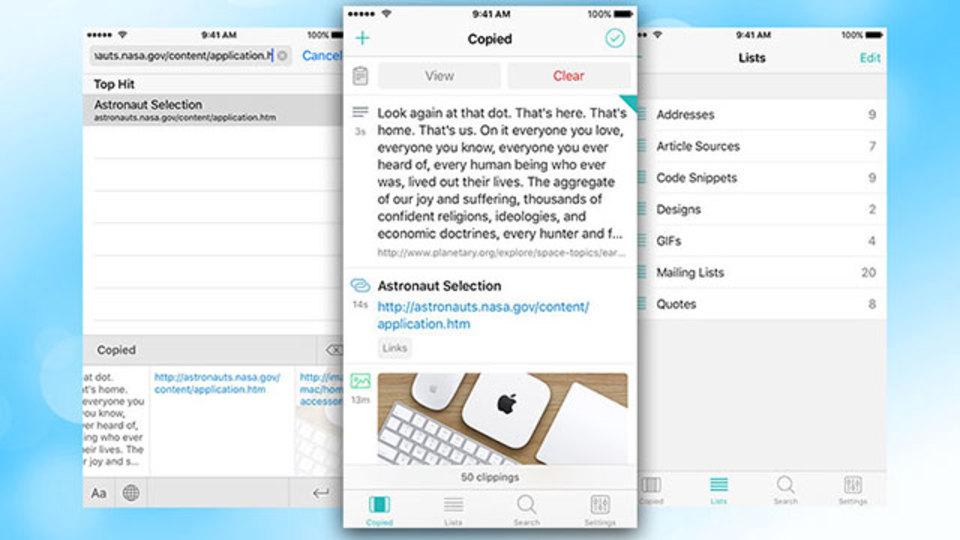iOS用クリップボードマネージャーアプリ『Copied』は多機能で便利