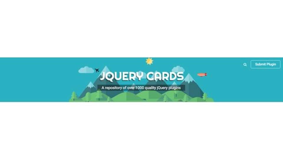 1000以上のjQueryプラグインが探せるサイト「jQuery Cards」