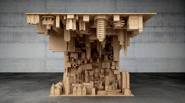 映画『インセプション』をイメージしたコーヒーテーブル