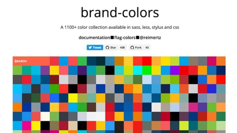 ウェブサービスのブランド色を検索できるサイト「brand-colors」