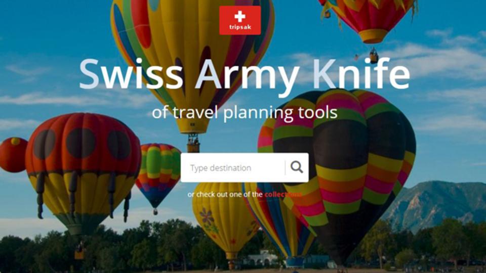旅行に役立つウェブサービスをカテゴリ別に分類したサイト「Tripsak」
