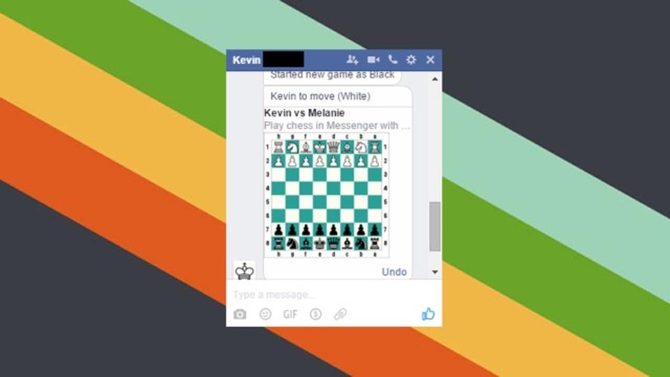 Facebookメッセンジャーに隠されたチェスの遊び方