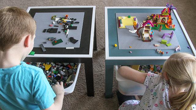 子ども大喜び、ブロックも散らからないDIYのLEGOテーブル
